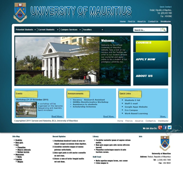 UoM Website Design